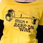 T-Shirt – Band On Wire, yellow